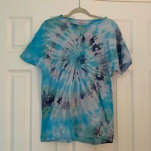Blue Tie Dye T